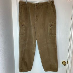 Tommy Hilfiger Brown Corduroy Cargo Pants. Size 40